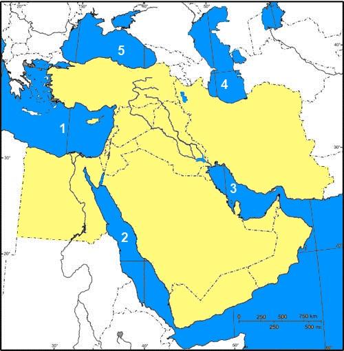 karta mellanöstern Mellanöstern; vatten 1 karta mellanöstern