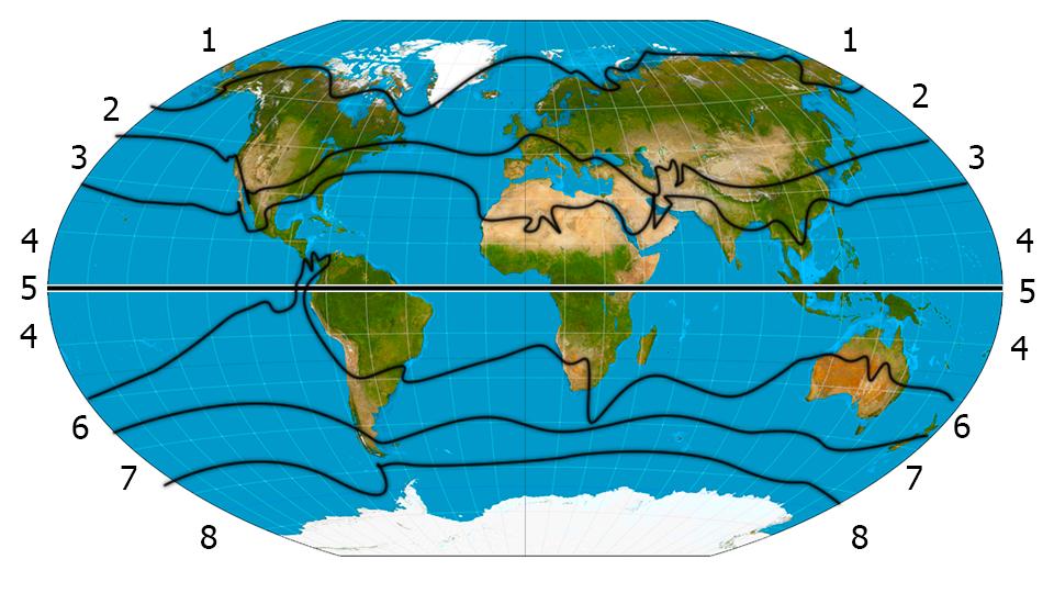ekvatorn karta Klimat zoner med alternativ ekvatorn karta